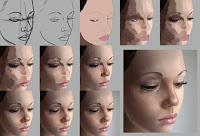 rostro pintado con pintura digital